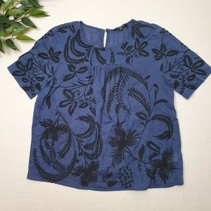 Madewell beautiful embroidered shirt size S